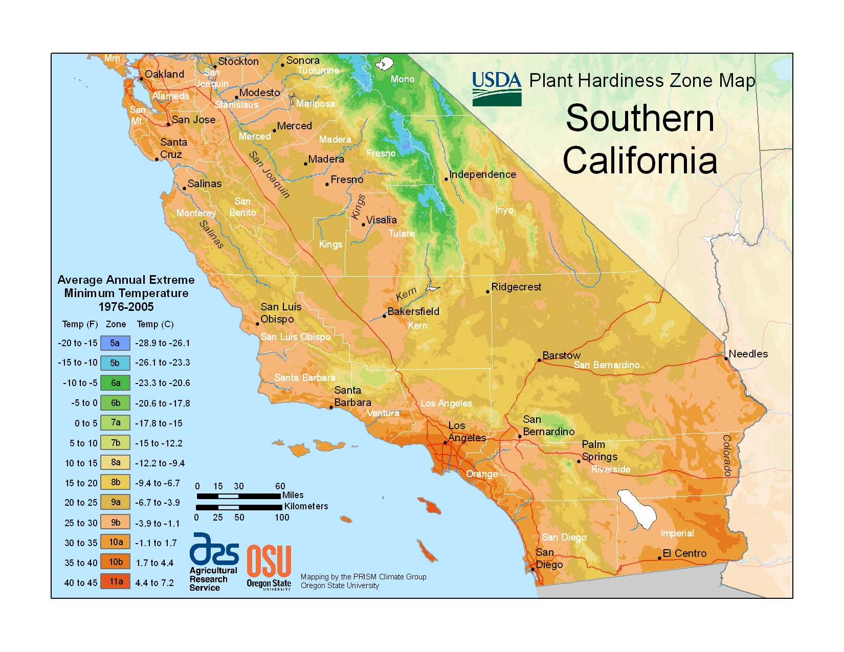 Map Of California Climate Zones.Planting Climate Zones Socal Cls Landscape Mgmt Inc